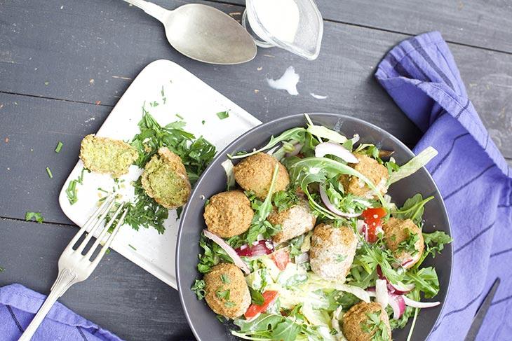 Quinoa Falafel vegan recipe salad