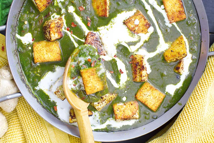 how to make Palak Paneer vegan