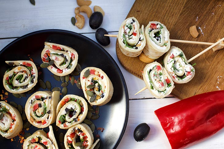 how to make Vegan tortilla roll ups
