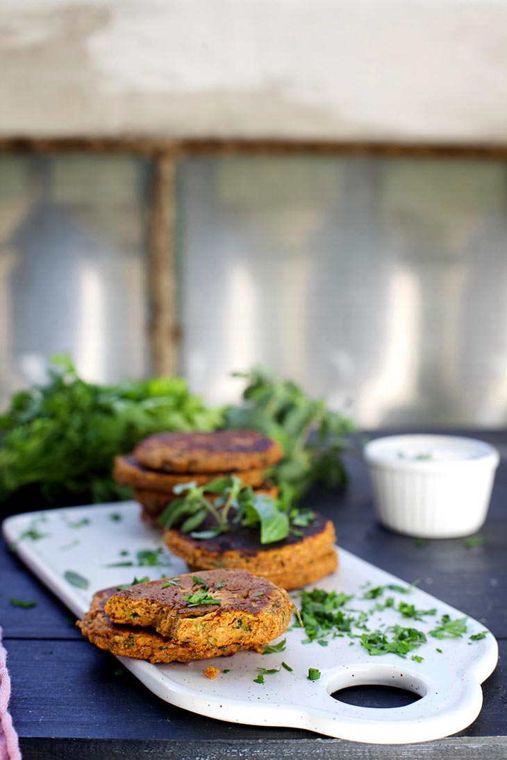 kid-friendly sweet potato cakes