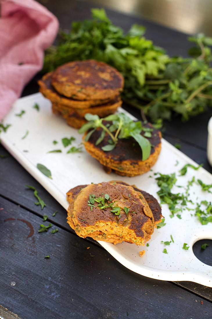 sweet potato cakes bite