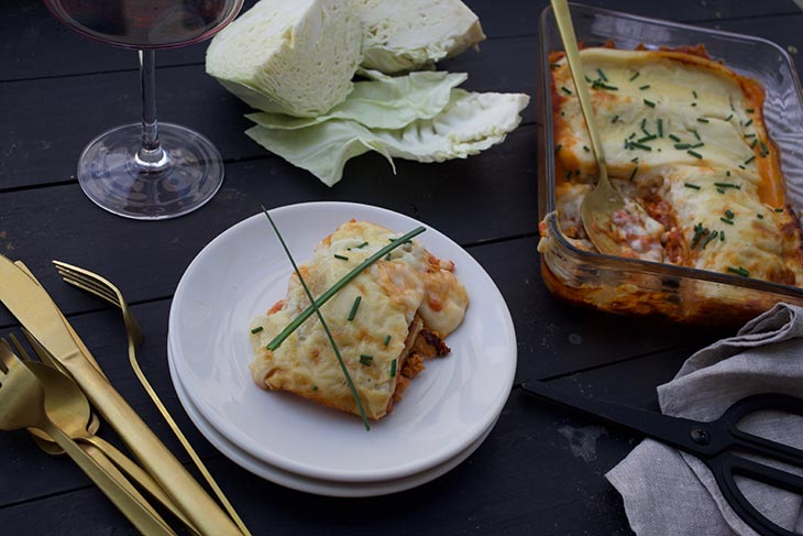 Vegan Cabbage Lasagna low carb