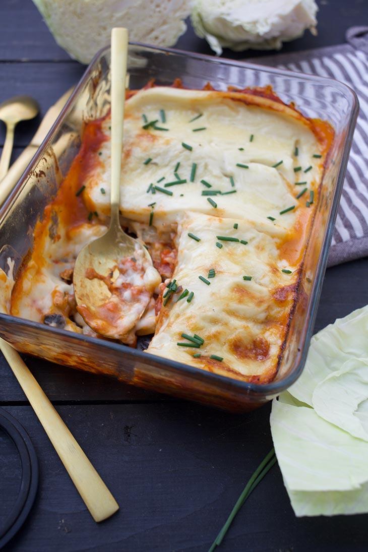 Vegan Cabbage Lasagna low carb gluten-free recipe