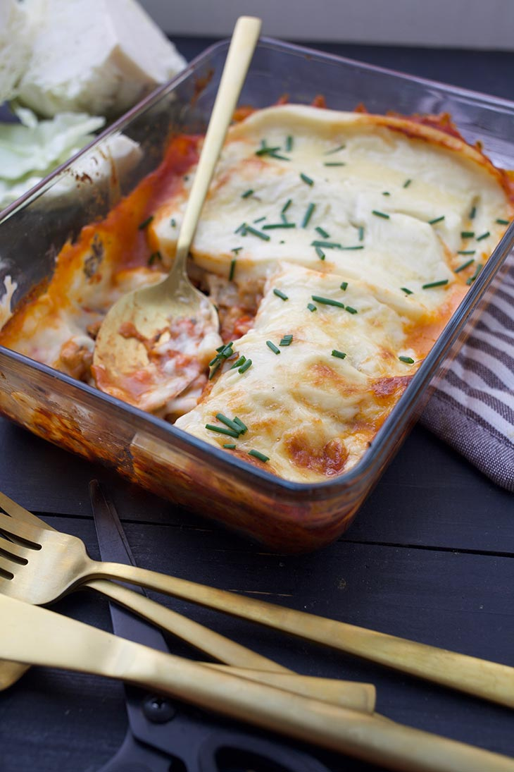 Vegan Cabbage Lasagna low carb