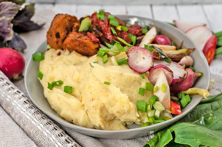 Healthy Vegan Mashed Potato Bowl Recipe