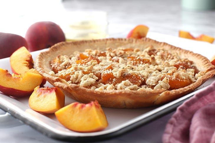 how to make peach crumble pie