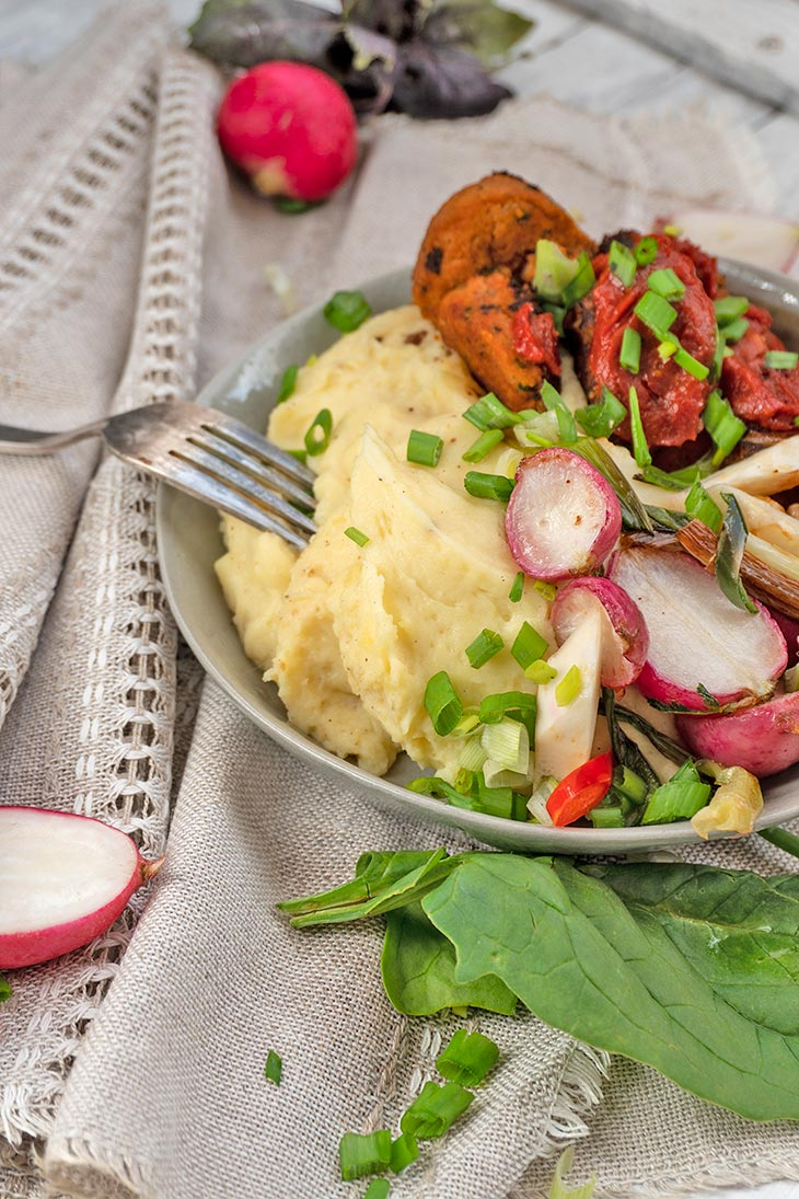 Quick Healthy Vegan Mashed Potato Bowl