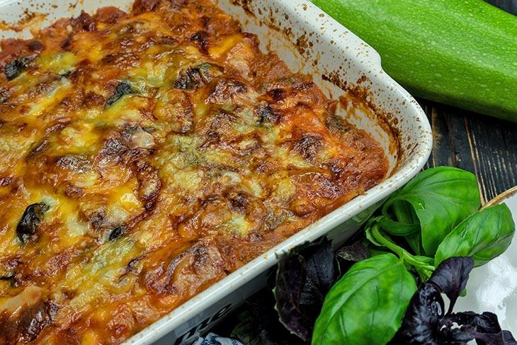 Lasagna cu dovlecei low carb keto