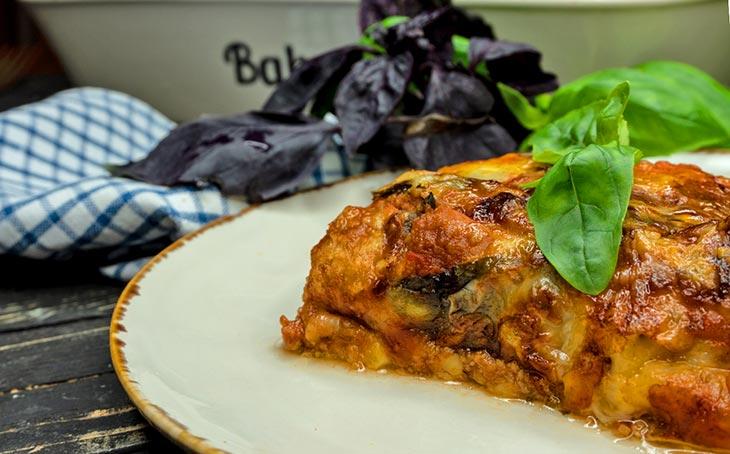 Lasagna cu dovlecei de post