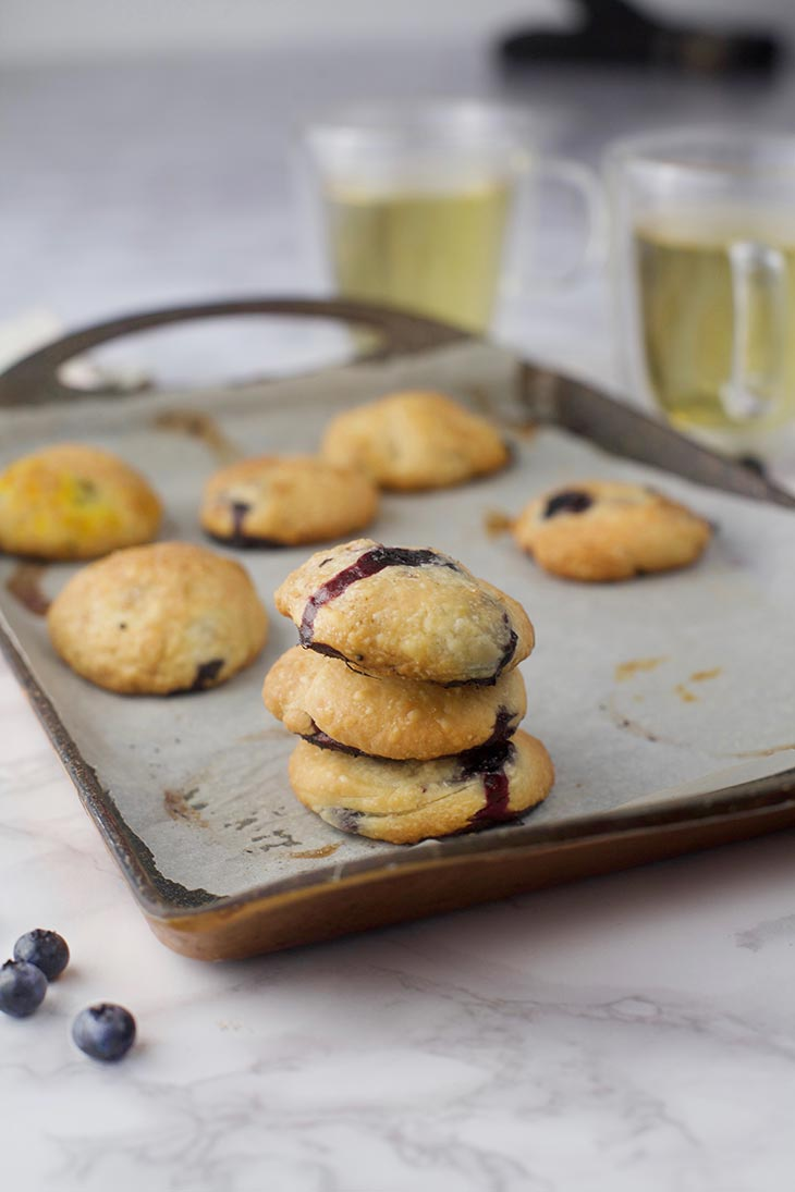 easy blueberry cookies