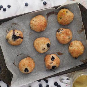 vegan blueberry cookies Biscuiti cu afine reteta