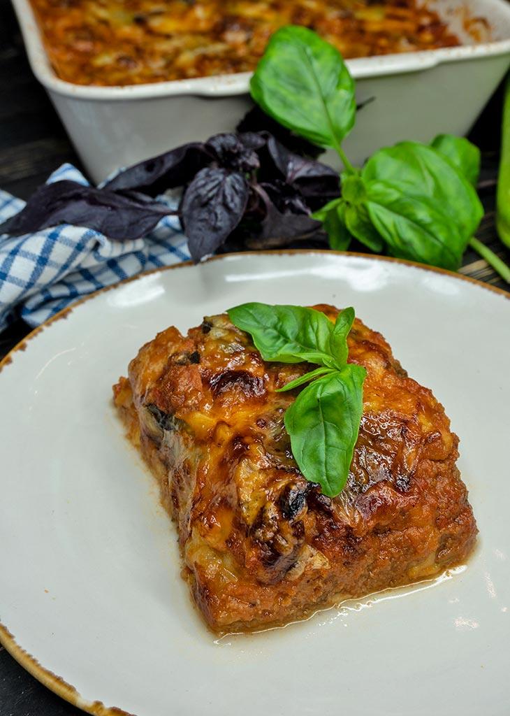 Lasagna cu dovlecei vegana