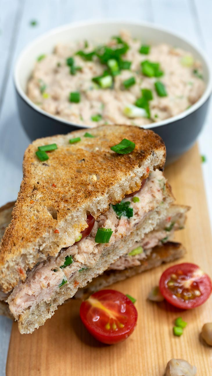 Faux Tuna Salad Vegetarian Sandwiches