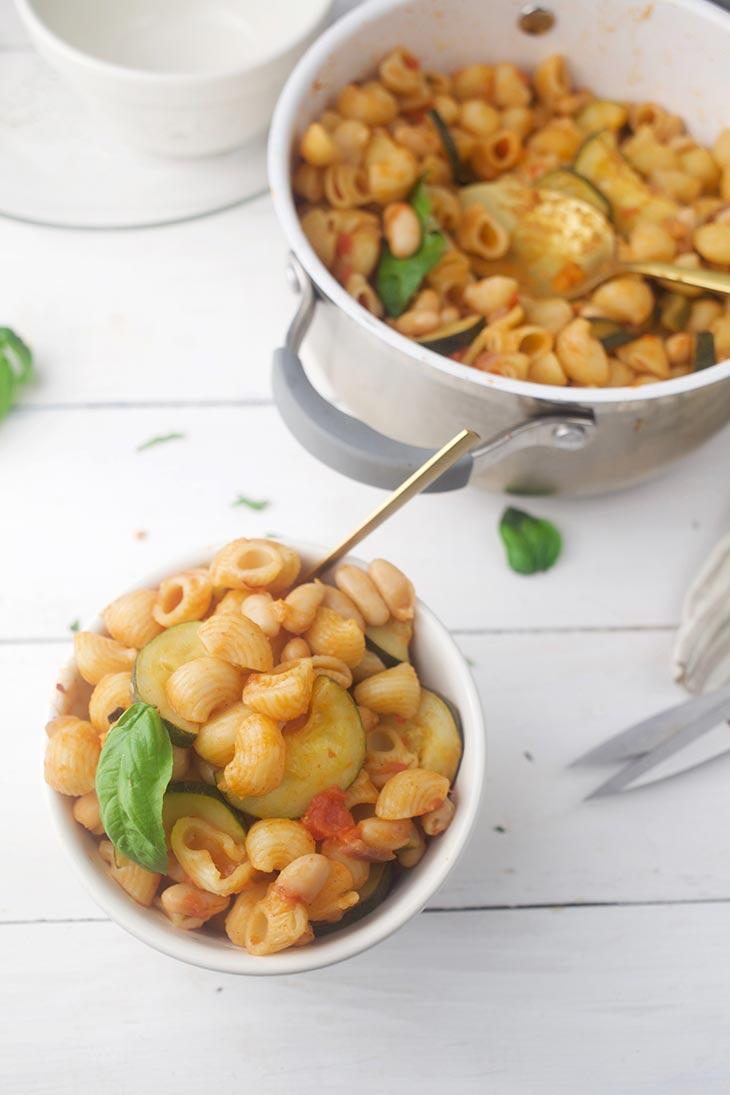 Pasta Fagioli with beans