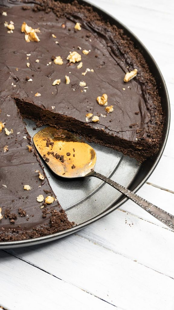Vegan Chocolate Tart Recipe Tarta cu ciocolata de post vegana