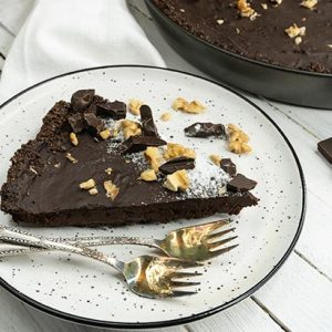 Vegan Chocolate Tart Tarta cu ciocolata de post vegana reteta