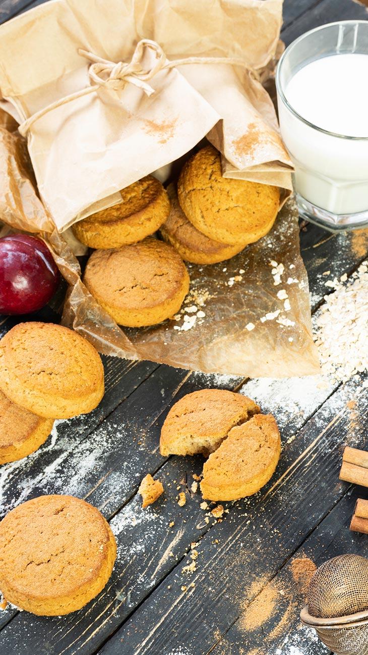 easy vegan Cinnamon Cookies