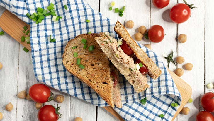 Vegan Faux Tuna Salad Sandwiches