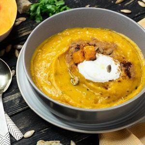 butternut squash Pumpkin Soup supa de dovleac
