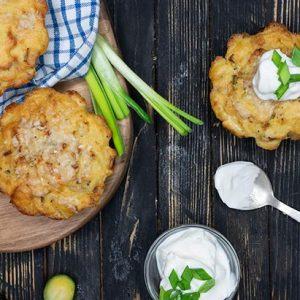 Baked Mashed Potato Cakes Chiftelute coapte de piure de cartofi