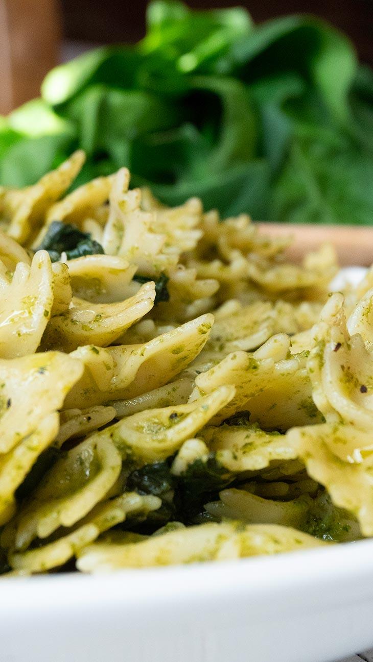 Lemony Pesto Farfalle Pasta easy Recipe