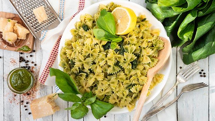 Lemony Pesto Farfalle Pasta
