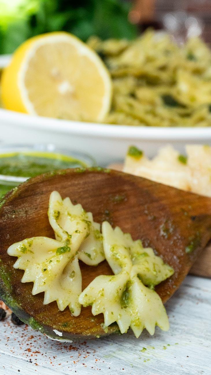 Lemony Pesto Farfalle Pasta recipe