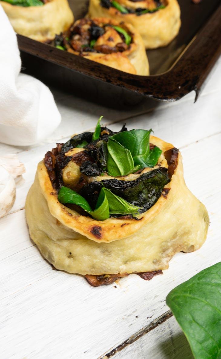 Savory Mushroom Rolls recipe
