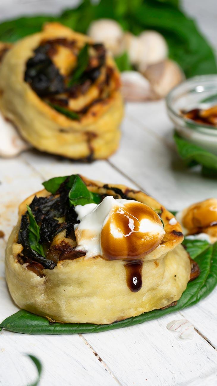 Savory Mushroom Rolls Appetizer