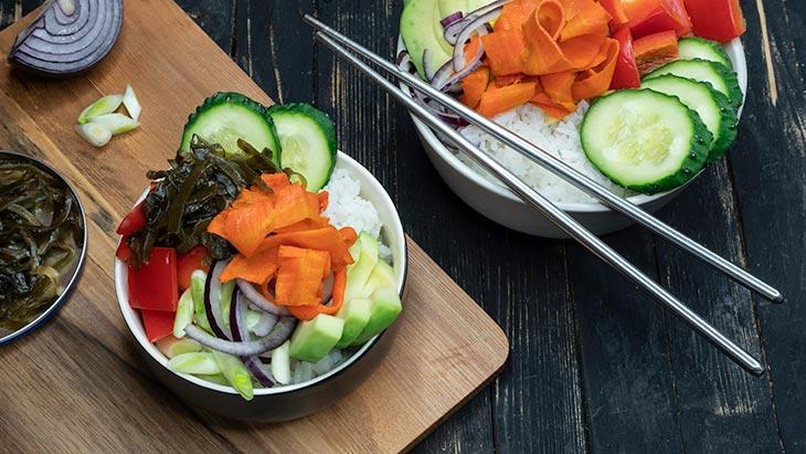 Vegan Poke Bowl Recipe with Vegan Salmon