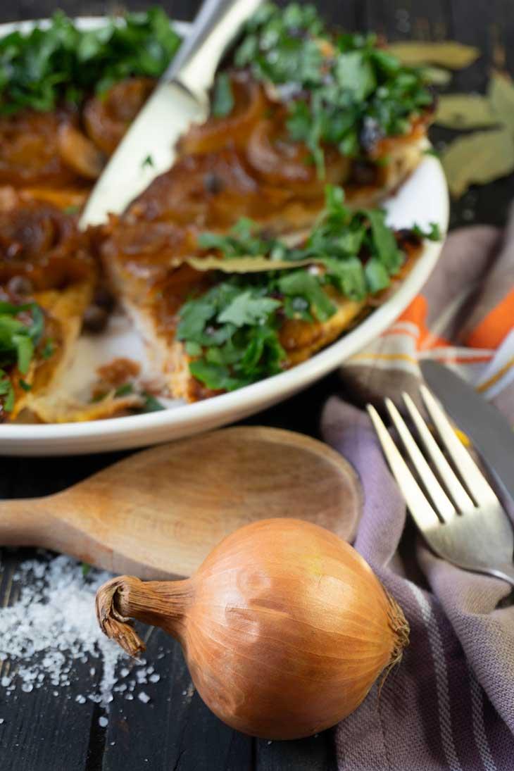 caramelized Vegan Onion Tart