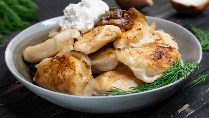 Vegan Pierogi dumplings recipe