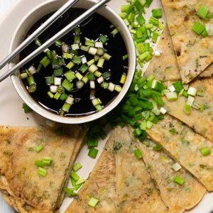 Vegan Scallion Pancakes Clatite cu ceapa verde reteta