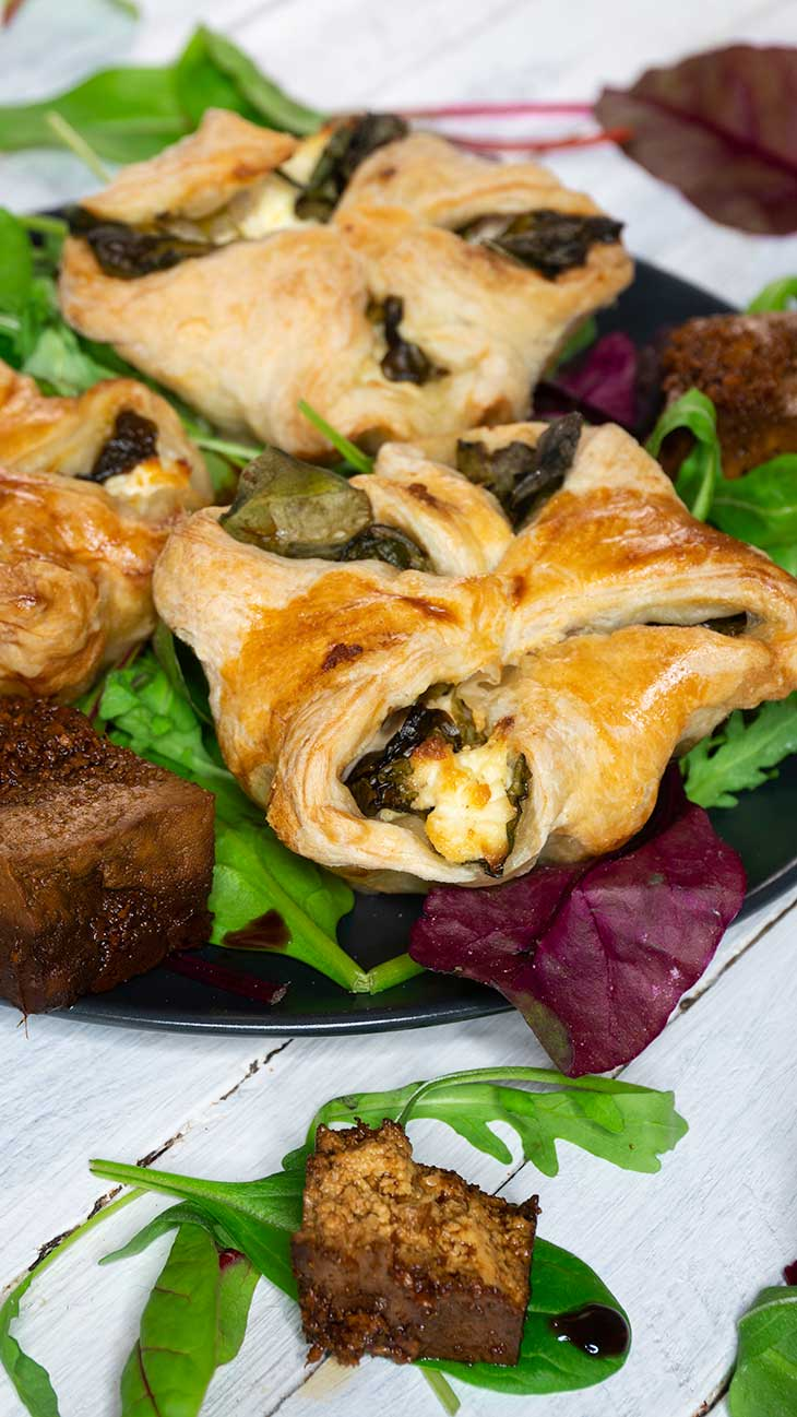 Vegan Spinach Puffs pastry recipe