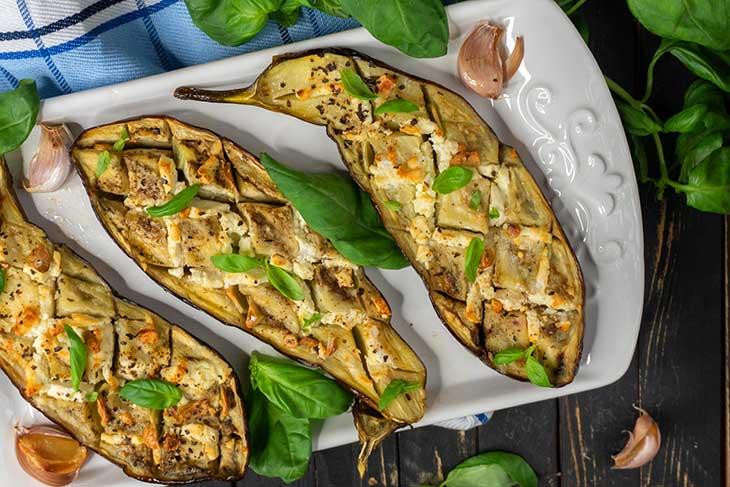 Oven Roasted Eggplants vinete la cuptor cu usturoi