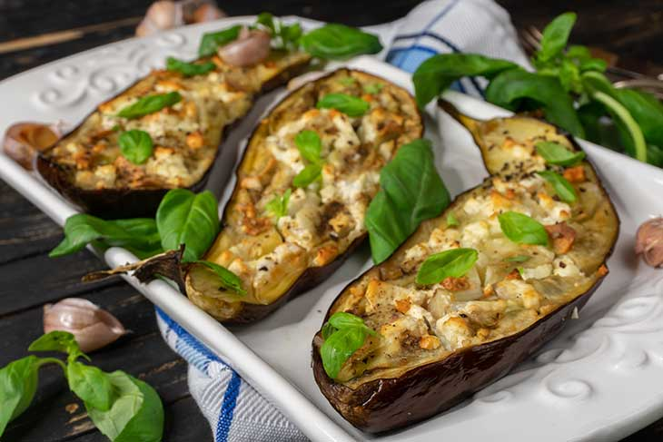 Perfect Oven Roasted Eggplants with garlic