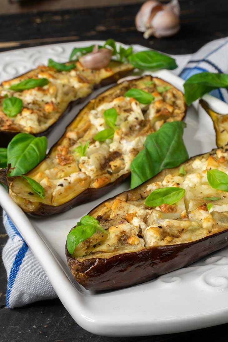 Perfect Oven Roasted Eggplants with seasoning