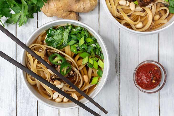 Vegan Udon Soup Noodle Recipe
