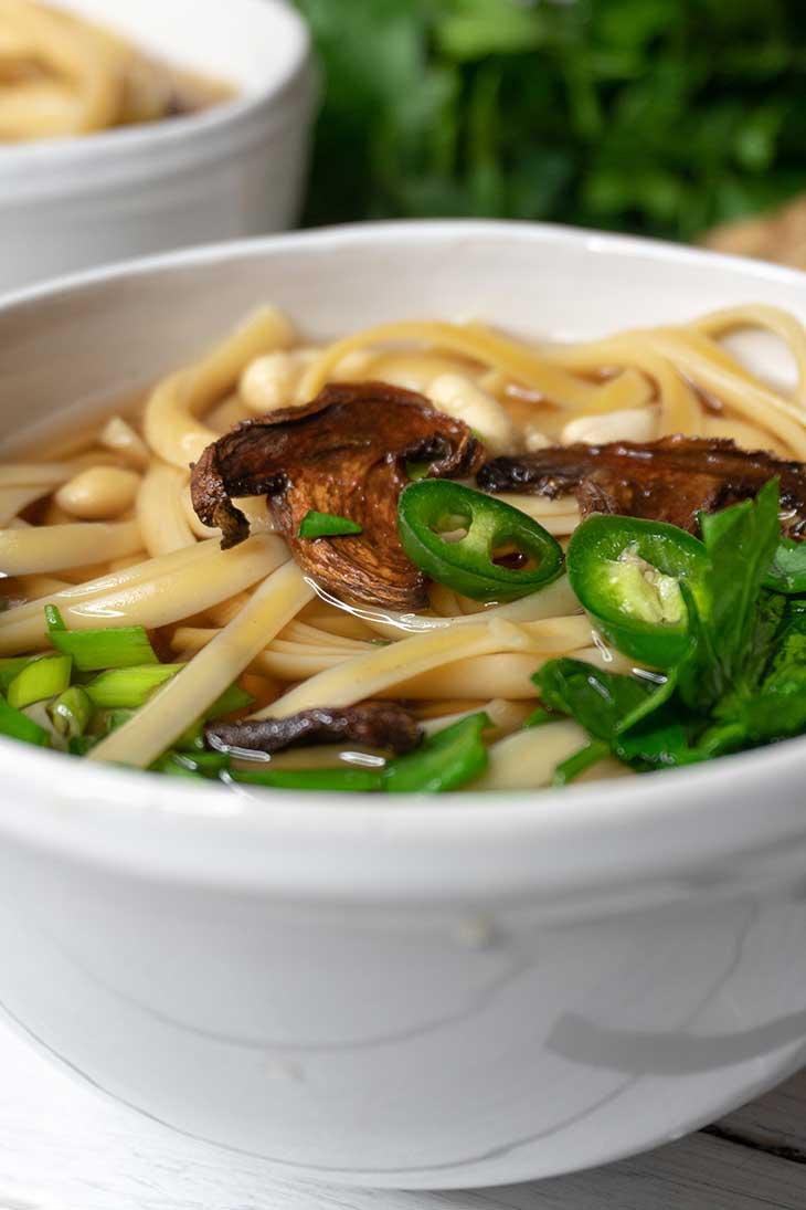 Vegan Udon Soup Supa Udon