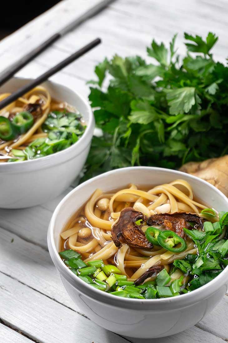 Vegan Udon Soup healthy