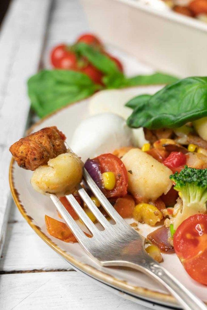 Veggie Baked Gnocchi Casserole Italian