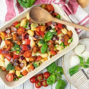 Veggie Baked Gnocchi Casserole Recipe