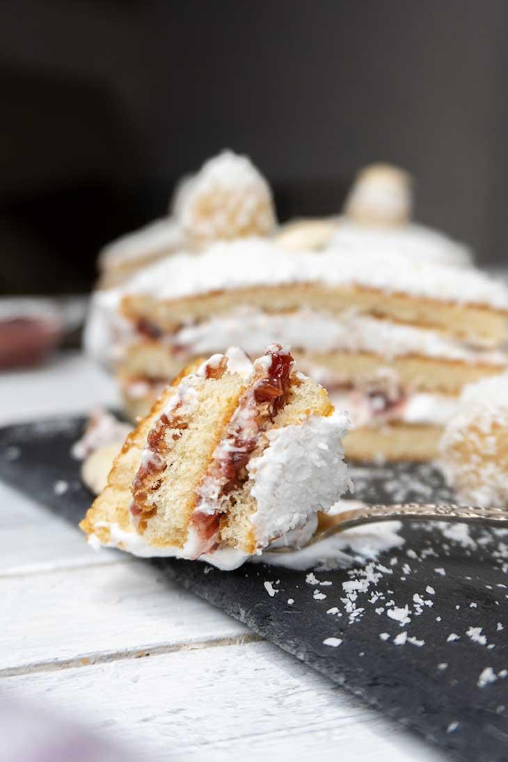 Vegan Raffaello Cake Dessert