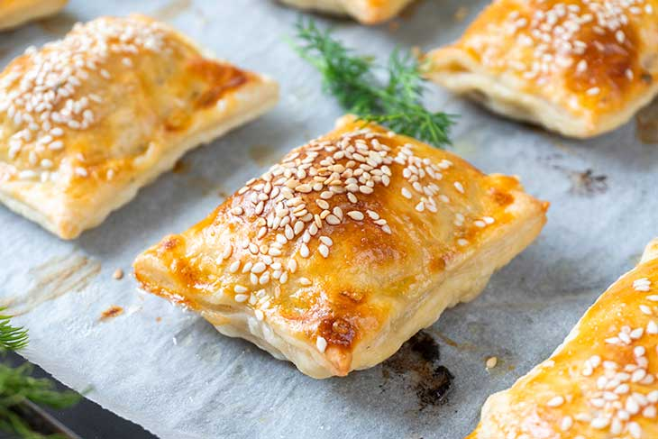 Breakfast Hot Pockets with pastry dough