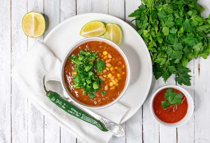 hearty beans soup ciorba de fasole