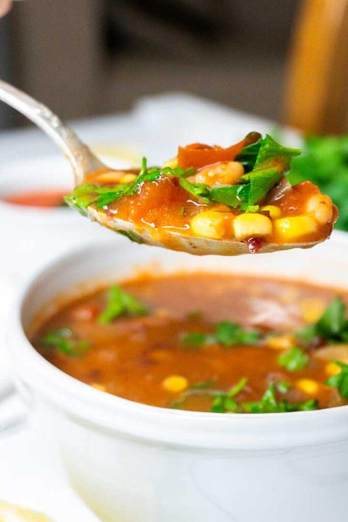 vegan beans soup ciorba de fasole