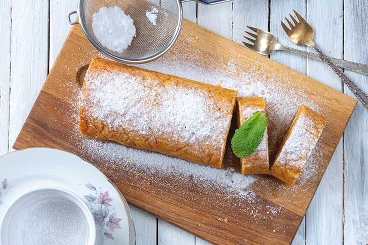 Carrot Cake Swiss Roll Recipe