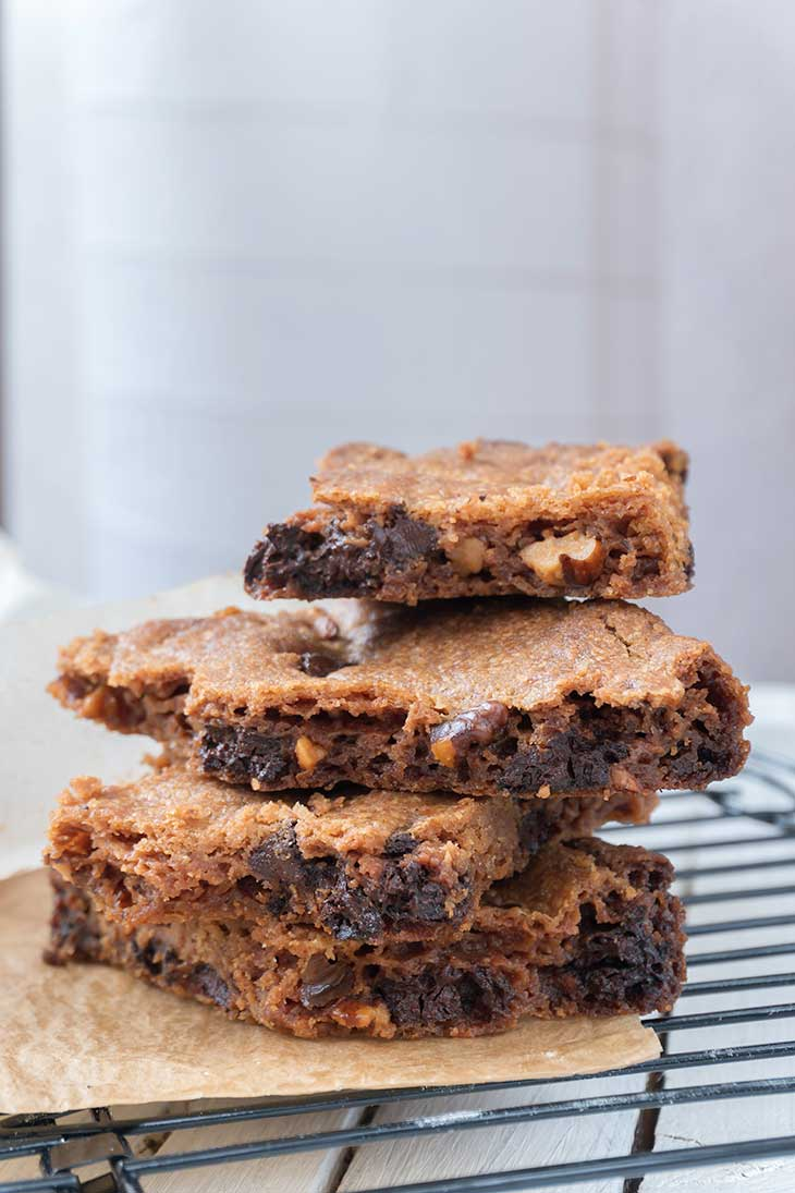 Vegan Chocolate-Chip Blondies