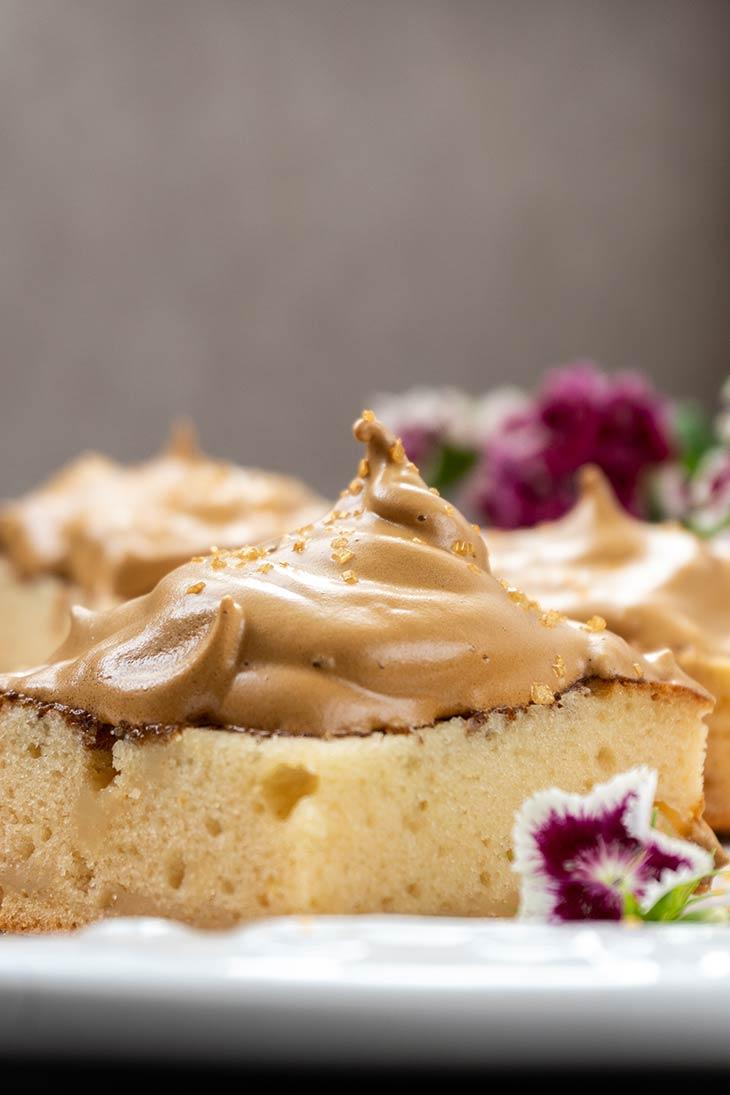 easy Vegan Dalgona Coffee Cake
