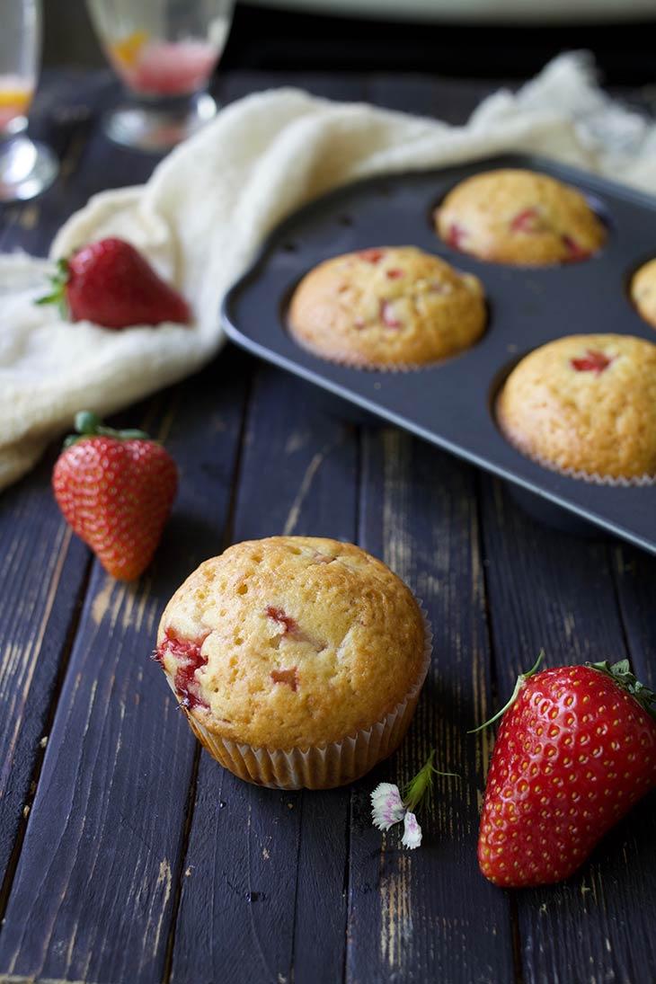 best Vegan Strawberry Muffins